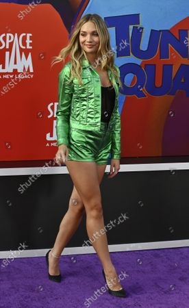 """Stock Image of Actress Maddie Ziegler attends the premiere of the animated motion picture sci-fi fantasy """"Space Jam"""" at Regal Cinemas LA Live in Los Angeles"""