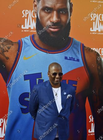 """Director Malcolm D Lee attends the premiere of the animated motion picture sci-fi fantasy """"Space Jam"""" at Regal Cinemas LA Live in Los Angeles"""