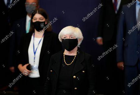 Editorial photo of EU Eurogroup Yellen, Brussels, Belgium - 12 Jul 2021