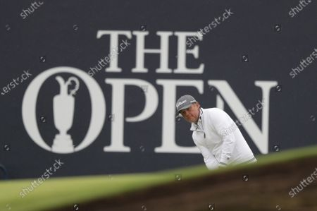 Matt Jones (USA) plays a putt from off the green at the 18th; The Royal St. George's Golf Club, Sandwich, Kent, England; The 149th Open Golf Championship, practice day.