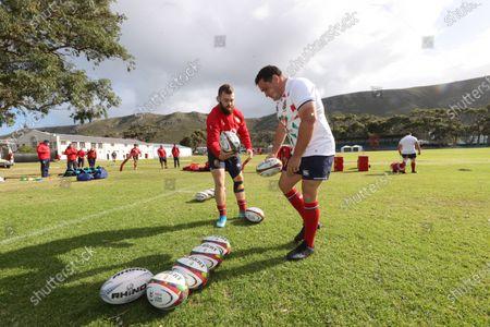 British & Irish Lions Captain's Run, South Africa 13/7/2021. Luke Cowan-Dickie and Jamie George