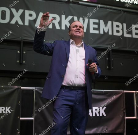 Editorial picture of Barry From Eastenders aka Shaun Williamson sings at Boxpark Wembley, Wembley, London, UK - 03 Jul 2021