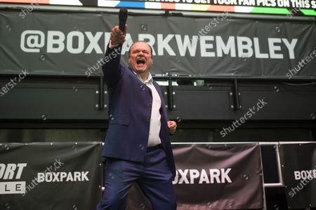 Editorial photo of Barry From Eastenders aka Shaun Williamson sings at Boxpark Wembley, Wembley, London, UK - 03 Jul 2021