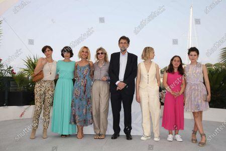 Stock Image of Karen Di Porto, Elena Lietti, Denise Tantucci, Margherita Buy, Director Nanni Moretti, Alba Rohrwacher, Chiara Abalsamo and Gea Dall Orto