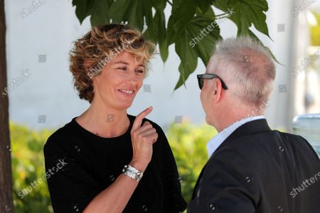 Cecile de France Talking with Thierry Fremaux