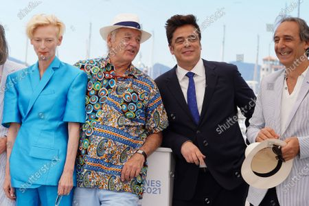 Tilda Swinton, Bill Murray, Benicio Del Toro and Alexandre Desplat