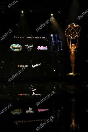 Ron Cephas Jones (in Los Angeles) and Jasmine Cephas Jones (from New York) announce this year's Emmy nominees for Outstanding Competition Series during the 73rd Emmy Awards Nominations Announcements via live streaming on Emmys.com from ShowPro Live Studios on in Los Angeles