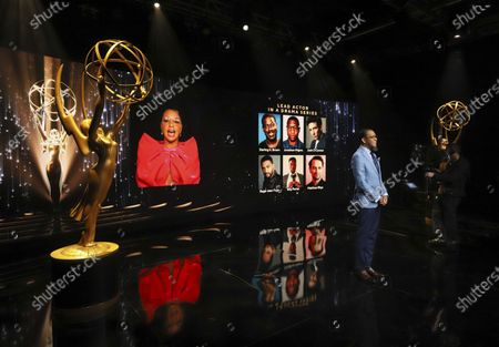 Ron Cephas Jones (in Los Angeles) and Jasmine Cephas Jones (from New York) announce this year's Emmy nominees for Outstanding Lead Actor in a Drama Series via live streaming on Emmys.com from ShowPro Live Studios on in Los Angeles
