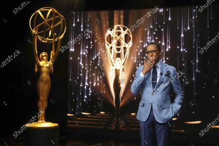 Ron Cephas Jones (in Los Angeles) along with Jasmine Cephas Jones (from New York), not pictured, announce the nominated programs and performers for the 73rd Emmy Awards via live streaming on Emmys.com from ShowPro Live Studios on in Los Angeles