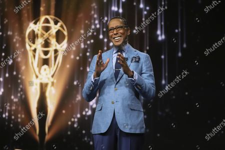 Stock Image of Ron Cephas Jones (in Los Angeles) and Jasmine Cephas Jones (from New York), not pictured, announce the nominated programs and performers for the 73rd Emmy Awards via live streaming on Emmys.com from ShowPro Live Studios on in Los Angeles