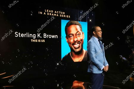 """Ron Cephas Jones (in Los Angeles) and Jasmine Cephas Jones (from New York) announce this year's Emmy nominees for Outstanding Lead Actor in a Drama Series which includes Sterling K. Brown from """"This is Us"""" via live streaming on Emmys.com from ShowPro Live Studios on in Los Angeles"""