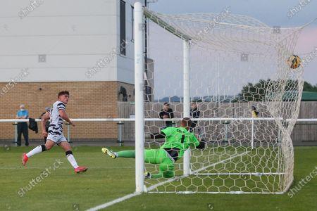 GOAL Forest Green Rovers Matt Stevens(9) scores a goal 0-5 during the Pre-Season Friendly match between Melksham Town and Forest Green Rovers at infiLED Arena, Melksham