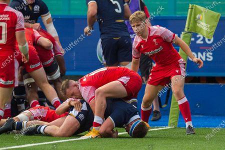 Editorial picture of Wales U20 v Scotland U20 - Under 20 Six Nations - 13 Jul 2021