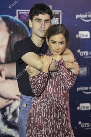 Alex Monner and Marina Salas attend 'Cover' photocall at Universal Music in Madrid on July 13, 2021. Spain