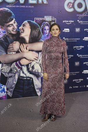 Stock Photo of Marina Salas attends 'Cover' photocall at Universal Music in Madrid on July 13, 2021. Spain