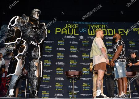 Jake Paul and Tyron Woodley