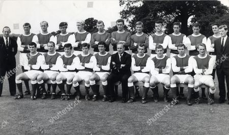 Arsenal Football Club Team Group 1965 Front Row From Left: Peter Storey Albert E J Magill George Armstrong Brian Tawse Jon Sammels Billy Wright Tommy Baldwin Joe Baker David Court George Eastham. Back Row From Left: Bert Mee Bill Mccullough Don Howe Peter Simpson Ian Ure Bob Wilson Jim Furnell A Tony Burns Alan Skirton John Radford Terry Neill Frank Mclintock And Lee Shannon