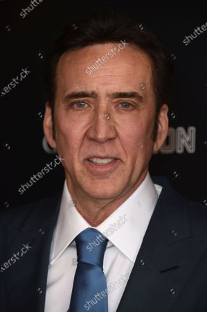 """Nicolas Cage arrives at the Los Angeles premiere of """"Pig"""", at the Nuart Theatre"""