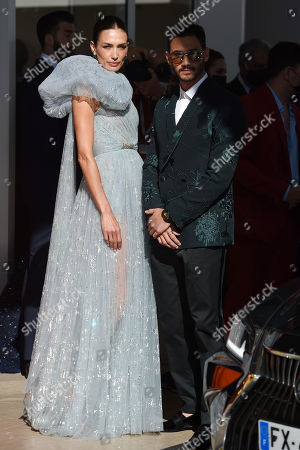 Stock Picture of Nieves Alvarez and Alejandro Speitzer leaving the Hotel Martinez