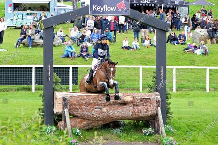 Stock Photo of Dani Evans riding C Born Fresh during 4* Cross Country event at the Barbury Castle International Horse Trials, Marlborough, Wiltshire, UK on Sunday 11th July 2021.
