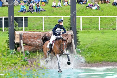 Dani Evans riding C Born Fresh during 4* Cross Country event at the Barbury Castle International Horse Trials, Marlborough, Wiltshire, UK on Sunday 11th July 2021.