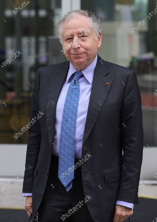 Jean Todt President of the Federation Internationale de lAutomobile (FIA) and Secretary General Special Envoy for Road Safety Living from His Meeting Today at the UN Headquarters in New York City.