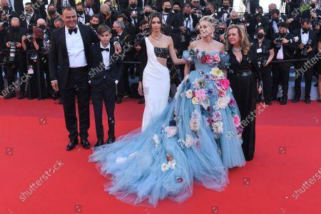 Milutin Gatsby, Helena Gatsby, Sharon Stone and Caroline Scheufele