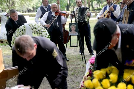 Frederic Prince von Anhalt during the urn burial of Zsa Zsa Gabor at Kerepean cemetery in Budapest Hollywood Diva Zsa Zsa Gabor was buried as part of an emotional life celebration. - Musicians play in the background