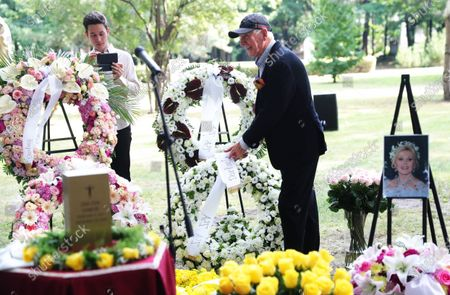 Stock Image of Frederic Prince von Anhalt during the urn burial of Zsa Zsa Gabor at Kerepean cemetery in Budapest Hollywood Diva Zsa Zsa Gabor was buried as part of an emotional life celebration.