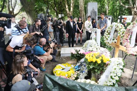 Frederic Prince von Anhalt during the urn burial of Zsa Zsa Gabor at Kerepean cemetery in Budapest Hollywood Diva Zsa Zsa Gabor was buried as part of an emotional life celebration. - here with future adoptive son Kevin