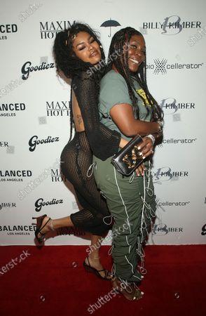 Editorial photo of Maxim Hot 100 event celebrating Teyana Taylor, The Highlight Room, Los Angeles, California, USA - 13 Jul 2021