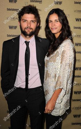 Adam Scott with wife Naomi Sablan