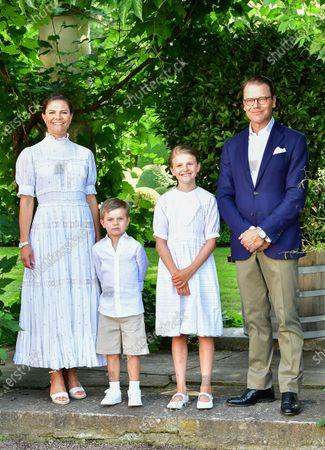 Crown Princess Victoria, Prince Oscar, Princess Estelle, and Prince Daniel