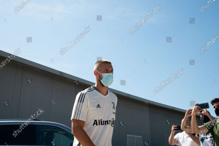Marko Pjaca of Juventus FC arrives at J-Medical in Turin  for the medical visites before the season 2021-202