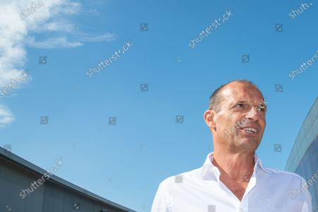 Stock Photo of Massimiliano Allegri head coach of Juventus FC arrives at J-Medical in Turin  for the medical visites before the season 2021-202