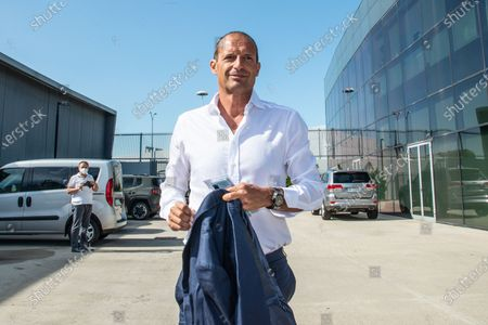 Stock Image of Massimiliano Allegri head coach of Juventus FC arrives at J-Medical in Turin  for the medical visites before the season 2021-202