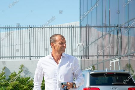 Massimiliano Allegri head coach of Juventus FC arrives at J-Medical in Turin  for the medical visites before the season 2021-202