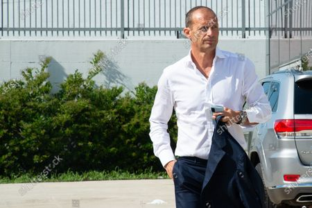 Stock Picture of Massimiliano Allegri head coach of Juventus FC arrives at J-Medical in Turin  for the medical visites before the season 2021-202