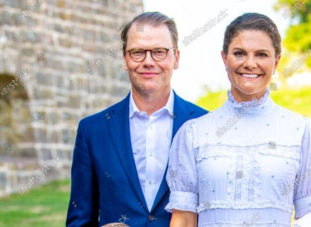 Crown Princess Victoria and Prince Daniel during the festivities for the Crown Princess her 44th birthday at Borgholm's castle ruin, in Borgholm, Oland in Sweden.