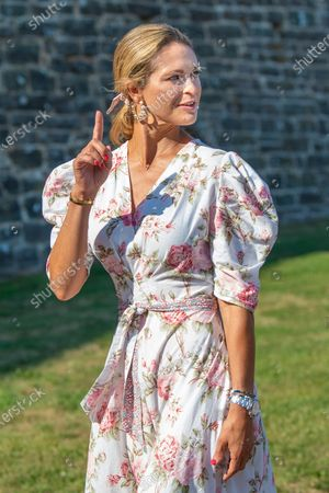 Stock Photo of Princess Madeleine during the festivities for the Crown Princess her 44th birthday at Borgholm's castle ruin, in Borgholm, Oland in Sweden.