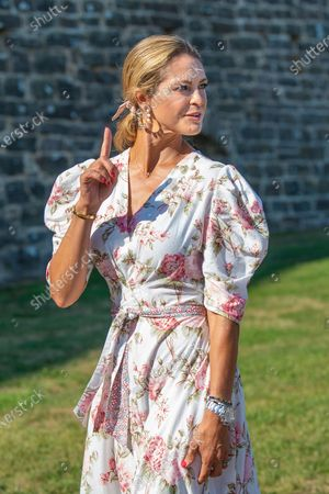 Princess Madeleine during the festivities for the Crown Princess her 44th birthday at Borgholm's castle ruin, in Borgholm, Oland in Sweden.