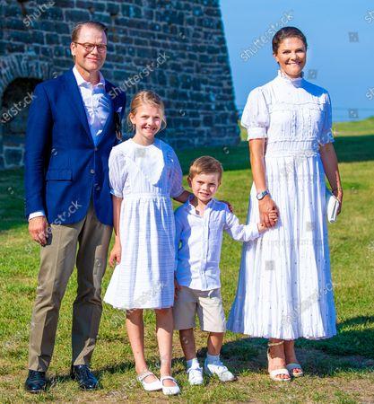 Crown Princess Victoria and Prince Daniel with Princess Estelle, Prince Oscar