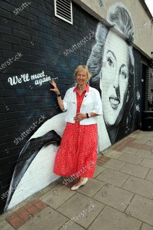 Editorial image of Dame Vera Lynn Mural, London, UK - 14 Jul 2021