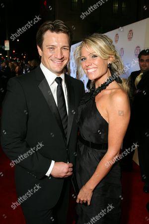 Nathan Fillion and Kate Luyben