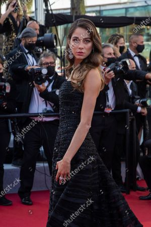 Stock Photo of Elen Capri poses for photographers upon arrival at the premiere of the film 'The Story of My Wife' at the 74th international film festival, Cannes, southern France