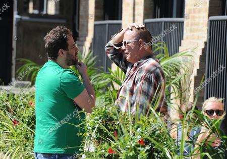 Brett Ratner and Mickey Rourke