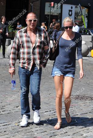 Stock Image of Mickey Rourke and Elena Kuletskaya