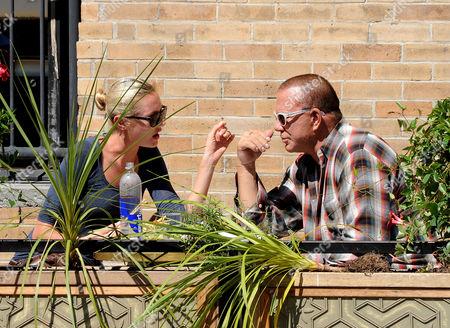 Elena Kuletskaya and Mickey Rourke