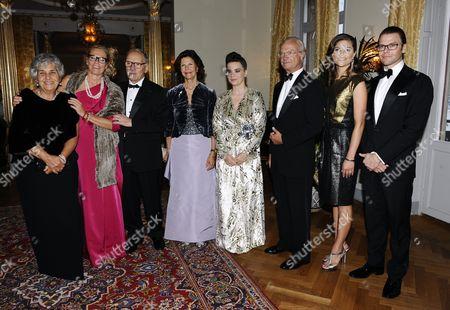 Marie Ledin, Ennio Morricone and wife, Queen Silvia, Bjork and King Carl Gustaf, Crown Princess Victoria and Prince Daniel