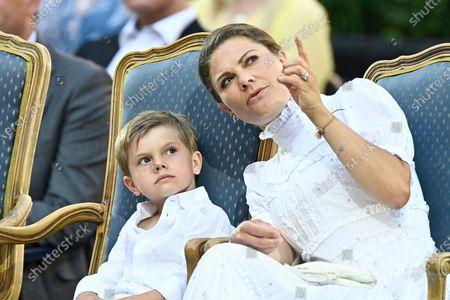 Prince Oscar and Crown Princess Victoria
